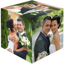 定制婚礼主题6面照片立方体