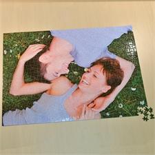 19.75x28 英寸 个性拼图 定制照片和文字 520块 (横式) 背面丝印