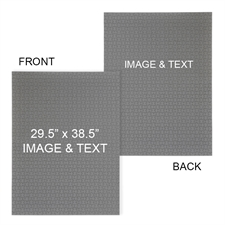 定制双面个性化拼图 29.53x38.58英寸, 2000 片,纵向