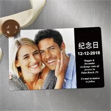 4x6英寸个性磁贴/冰箱贴 爱情主题(简约黑色)(8张起订)