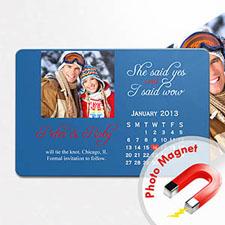 4x6英寸幸福时光--日历照片磁贴(152.4x101.6mm),热恋款(蓝色)(8张起订)