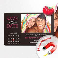 4x6英寸幸福时光--日历照片磁贴(152.4x101.6mm),真爱款(黑色)(8张起订)
