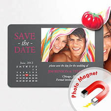 4x6英寸幸福时光--日历照片磁贴(152.4x101.6mm),真爱款(灰色)(8张起订)