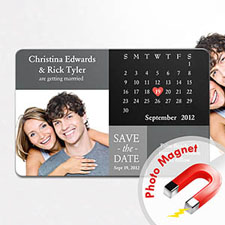 4x6英寸幸福时光--日历照片磁贴(152.4x101.6mm),经典款(黑灰色)(8张起订)