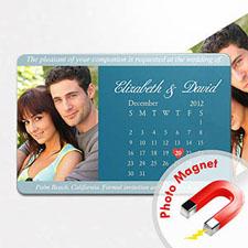 4x6英寸幸福时光--日历照片磁贴(152.4x101.6mm),简洁款(蓝色)(8张起订)