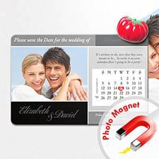 4x6英寸幸福时光--日历照片磁贴(152.4x101.6mm),豪华款(黑灰色)(8张起订)