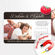 4x6英寸幸福时光--日历照片磁贴(152.4x101.6mm),温馨款(黑色)(8张起订)