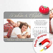 4x6英寸幸福时光--日历照片磁贴(152.4x101.6mm),温馨款(灰色)(8张起订)