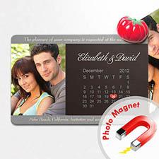 4x6英寸幸福时光--日历照片磁贴(152.4x101.6mm),简洁款(黑灰色)(8张起订)