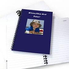 方形照片蓝色背景 笔记本