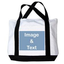 个性DIY帆布包-全幅横式照片(黑色)