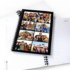 8图拼盘黑色背景 笔记本