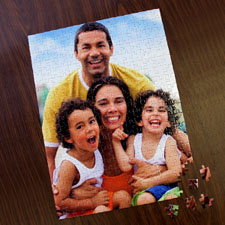 Personalized 285 Or 54 Piece Portrait 12X16.5 Inch Photo Puzzle