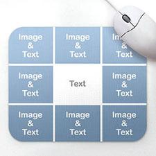 个性8图拼盘鼠标垫 白色
