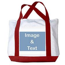 个性DIY帆布包-全幅横式照片(红色)