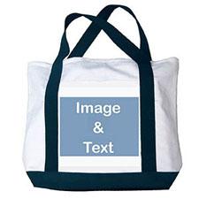 个性DIY帆布包-全幅横式照片(深蓝)