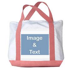 个性DIY帆布包-全幅横式照片(粉色)