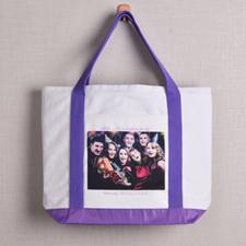 个性DIY帆布包-全幅横式照片(紫色)