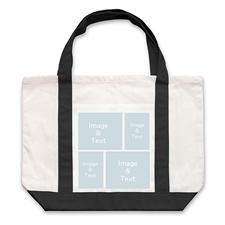 个性DIY帆布袋-四图拼贴(不同尺寸&黑色)