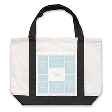 个性DIY帆布袋-六图拼贴(黑色)
