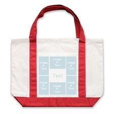 个性DIY帆布袋-六图拼贴(红色)
