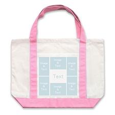 个性DIY帆布袋-六图拼贴(粉色)