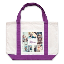 个性DIY帆布袋-六图拼贴(紫色)