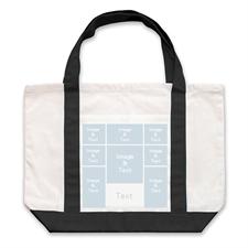个性DIY帆布袋-八图拼贴(黑色)