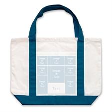 个性DIY帆布袋-八图拼贴(深蓝)