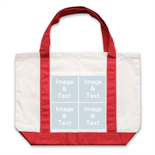 个性DIY帆布袋-四图拼贴(红色)