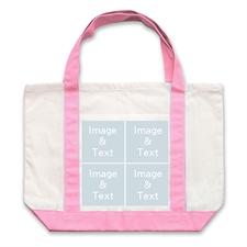 个性DIY帆布袋-四图拼贴(粉色)