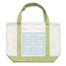 个性DIY帆布袋-四图拼贴(绿色)