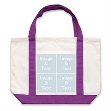 个性DIY帆布袋-四图拼贴(紫色)