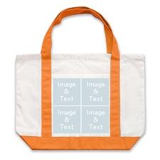 个性DIY帆布袋-四图拼贴(橙色)