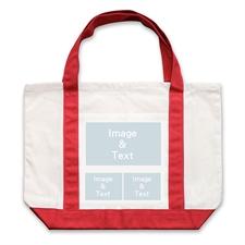 个性DIY帆布袋-三图拼贴(红色)