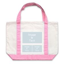 个性DIY帆布袋-三图拼贴(粉色)