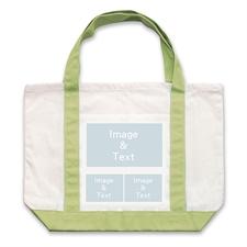 个性DIY帆布袋-三图拼贴(绿色)