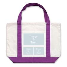 个性DIY帆布袋-三图拼贴(紫色)