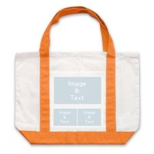 个性DIY帆布袋-三图拼贴(橙色)