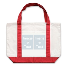 个性DIY帆布袋-双图拼贴(红色)
