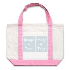 个性DIY帆布袋-双图拼贴(粉色)