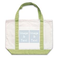 个性DIY帆布袋-双图拼贴(绿色)