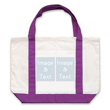 个性DIY帆布袋-双图拼贴(紫色)