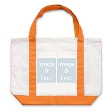 个性DIY帆布袋-双图拼贴(橙色)