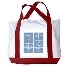 个性DIY帆布袋-八图拼贴(红色)