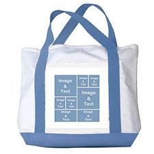 个性DIY帆布袋-八图拼贴(浅蓝)