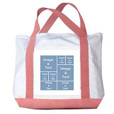 个性DIY帆布袋-八图拼贴(粉色)