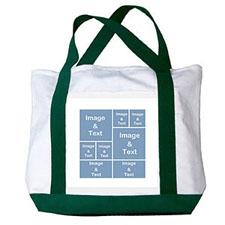 个性DIY帆布袋-八图拼贴(绿色)