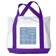 个性DIY帆布袋-八图拼贴(紫色)