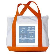个性DIY帆布袋-八图拼贴(橙色)